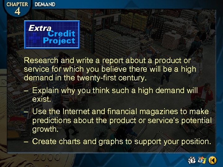 Research and write a report about a product or service for which you believe