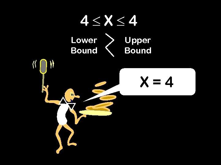 4 X 4 Lower Bound Upper Bound X=4