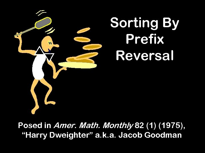 """Sorting By Prefix Reversal Posed in Amer. Math. Monthly 82 (1) (1975), """"Harry Dweighter"""""""