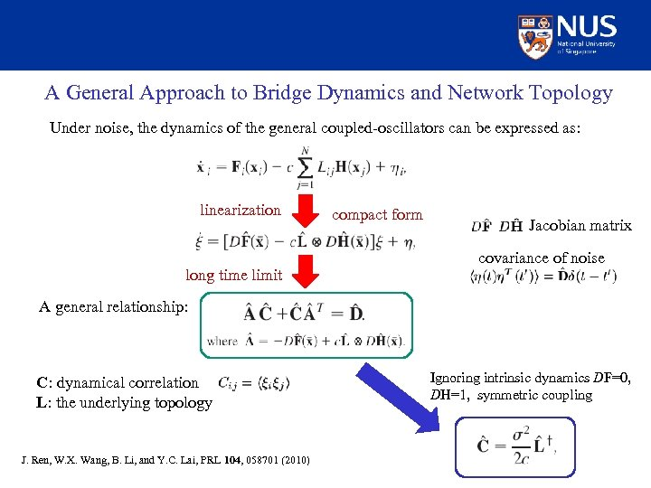 A General Approach to Bridge Dynamics and Network Topology Under noise, the dynamics of