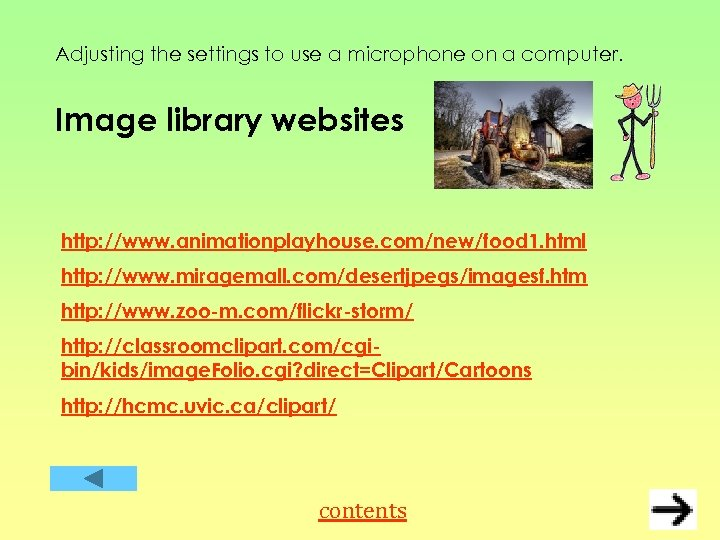Adjusting the settings to use a microphone on a computer. Image library websites http: