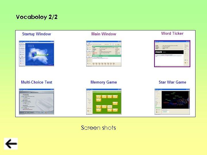 Vocaboloy 2/2 Screen shots