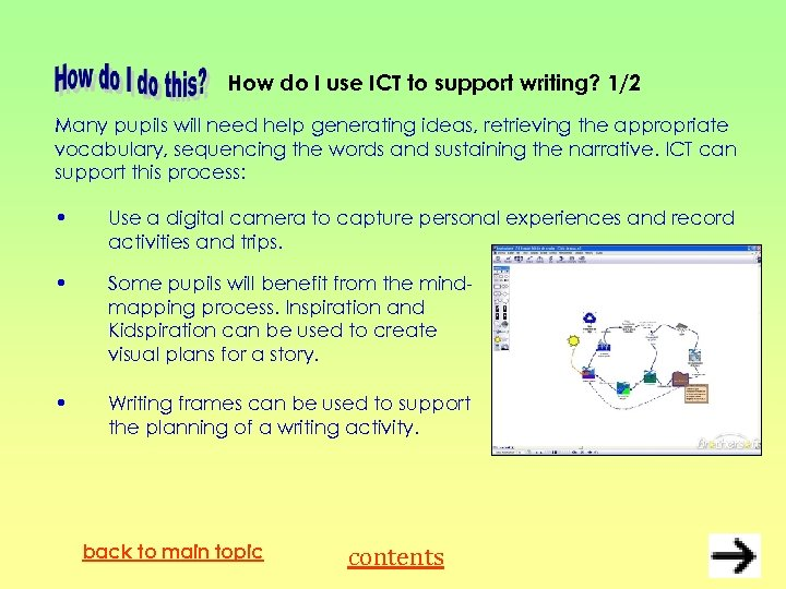 How do I use ICT to support writing? 1/2 Many pupils will need help