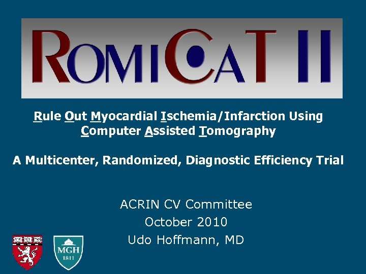 Rule Out Myocardial Ischemia/Infarction Using Computer Assisted Tomography A Multicenter, Randomized, Diagnostic Efficiency Trial