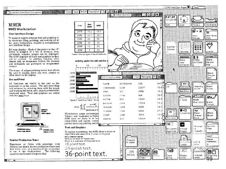 Screen shot of Xerox Star 19