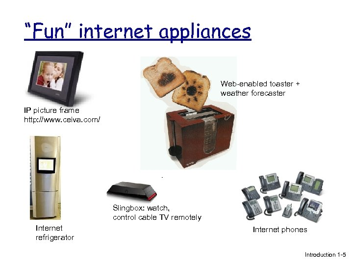 """Fun"" internet appliances Web-enabled toaster + weather forecaster IP picture frame http: //www. ceiva."