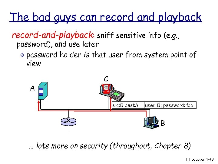 The bad guys can record and playback record-and-playback: sniff sensitive info (e. g. ,