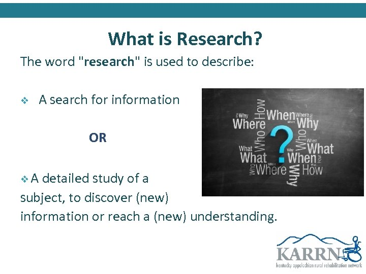 What is Research? The word