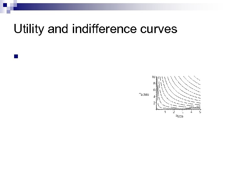 Utility and indifference curves n