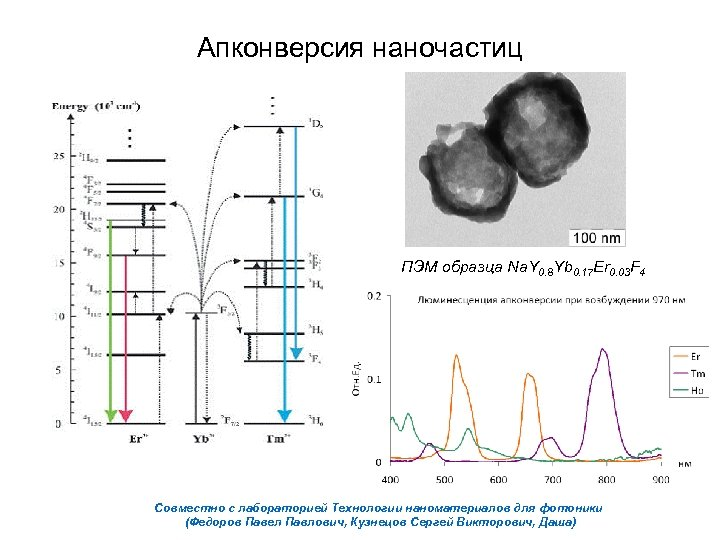 Апконверсия наночастиц ПЭМ образца Na. Y 0. 8 Yb 0. 17 Er 0. 03