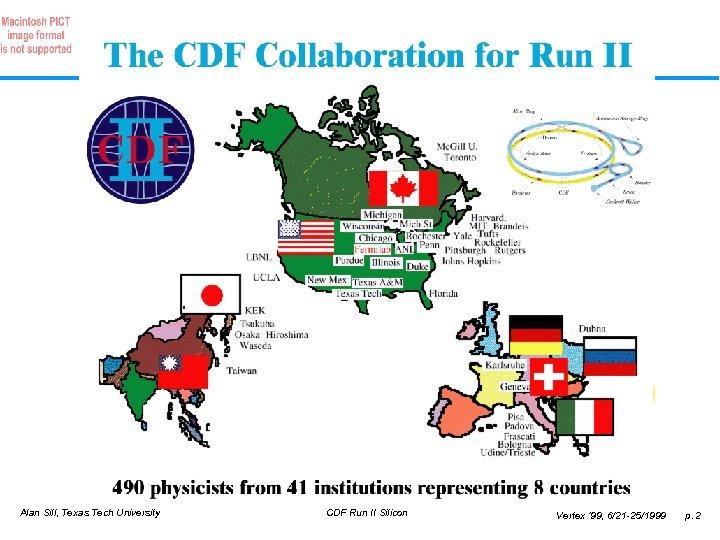 Alan Sill, Texas Tech University CDF Run II Silicon Vertex ' 99, 6/21 -25/1999