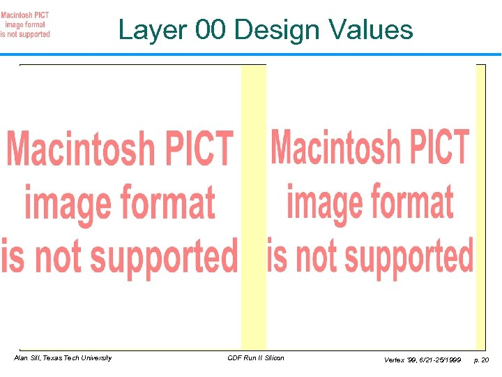 Layer 00 Design Values Alan Sill, Texas Tech University CDF Run II Silicon Vertex