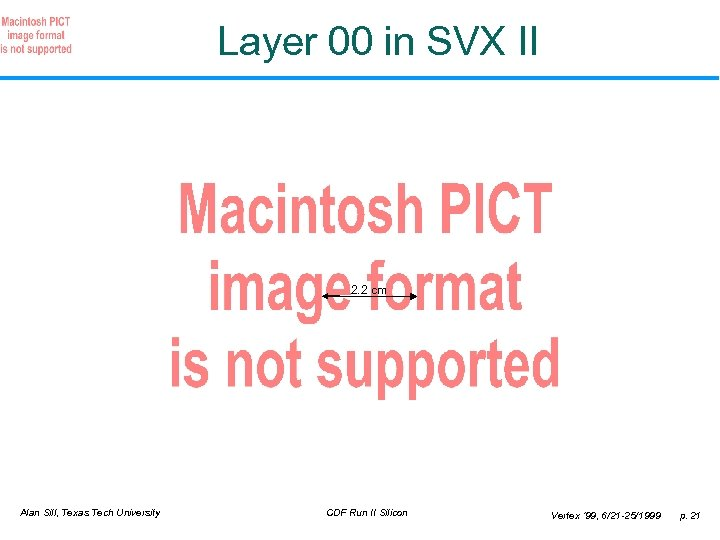 Layer 00 in SVX II 2. 2 cm Alan Sill, Texas Tech University CDF