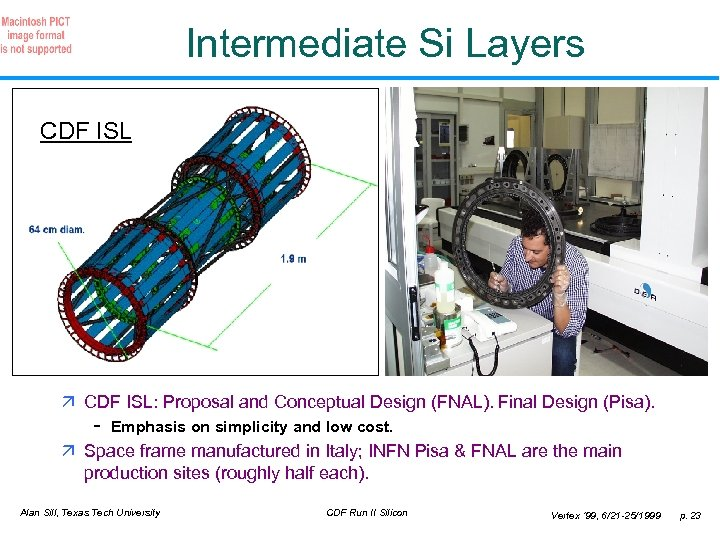 Intermediate Si Layers CDF ISL ä CDF ISL: Proposal and Conceptual Design (FNAL). Final