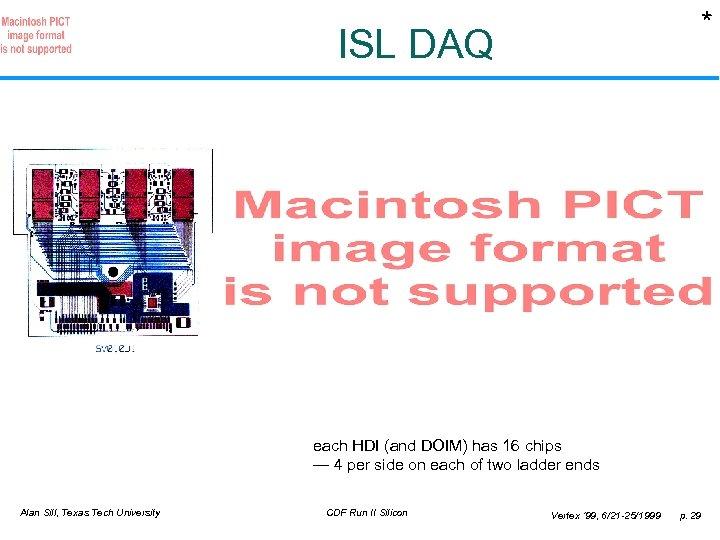 * ISL DAQ each HDI (and DOIM) has 16 chips — 4 per side