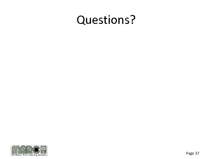 Questions? Page 37