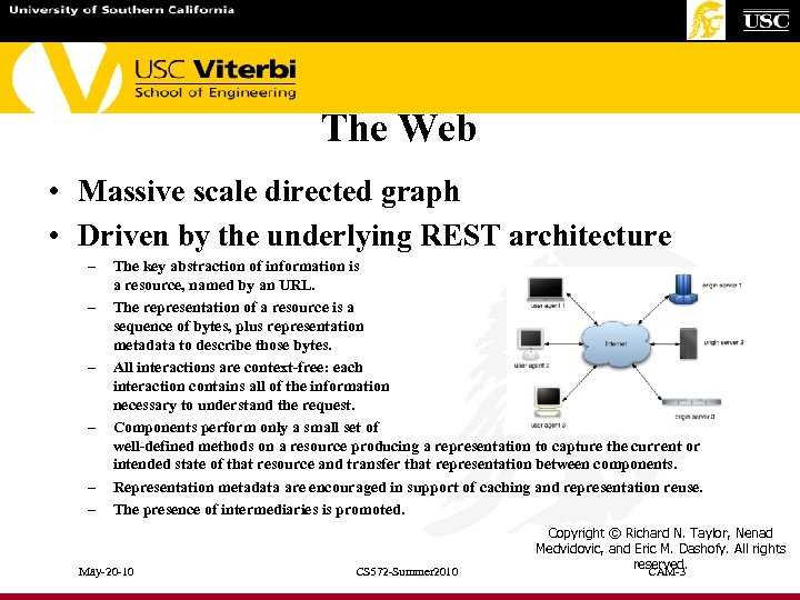 The Web • Massive scale directed graph • Driven by the underlying REST architecture