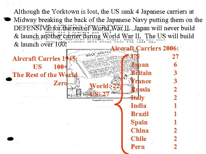 Although the Yorktown is lost, the US sank 4 Japanese carriers at Midway breaking