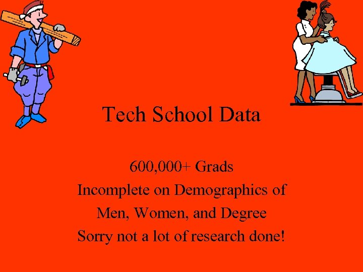 Tech School Data 600, 000+ Grads Incomplete on Demographics of Men, Women, and Degree