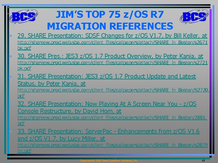z OS Release 7 Migration The Right Time To