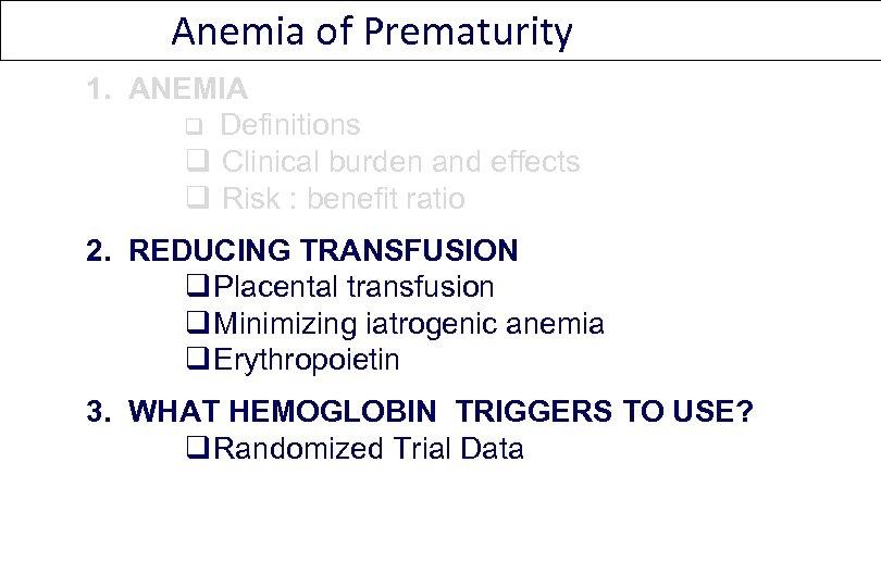 Anemia of prematurity - rezolvaripbinfo.ro