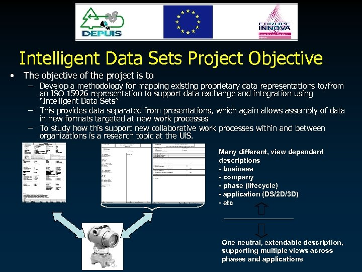 Intelligent Data Sets Project Objective • The objective of the project is to –