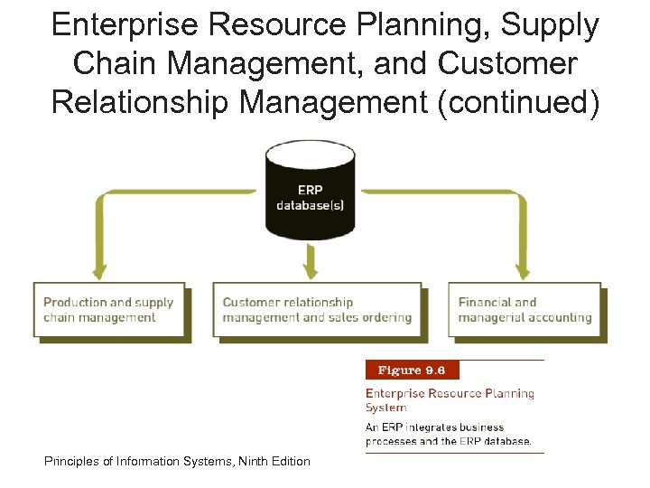Enterprise Resource Planning, Supply Chain Management, and Customer Relationship Management (continued) Principles of Information