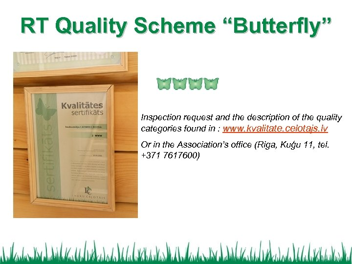 "RT Quality Scheme ""Butterfly"" Inspection request and the description of the quality categories found"