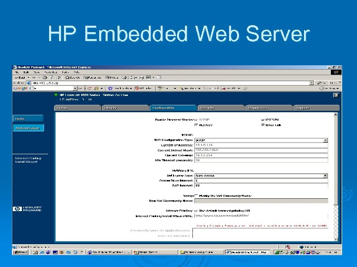HP Embedded Web Server