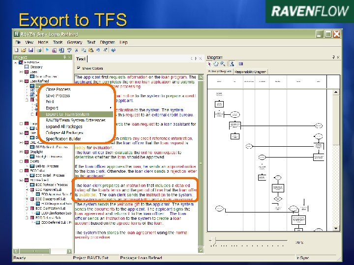 Export to TFS