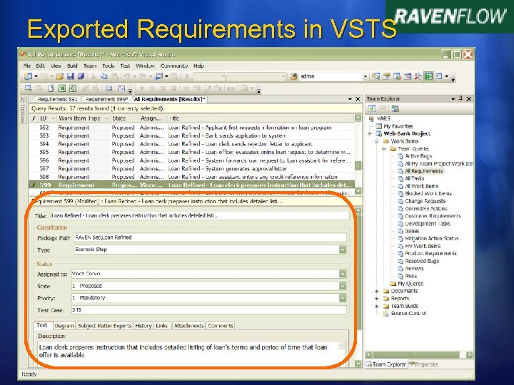 Exported Requirements in VSTS