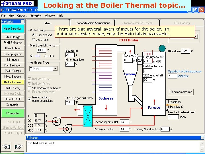 STEAM PRO Looking at the Boiler Thermal topic. . . There also several layers
