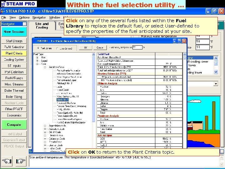STEAM PRO Within the fuel selection utility. . . Click on any of the