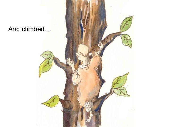 And climbed…