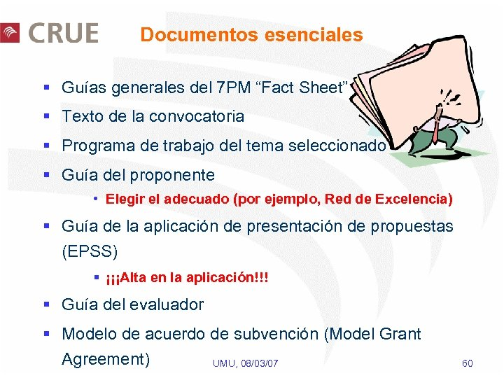 """Documentos esenciales § Guías generales del 7 PM """"Fact Sheet"""" § Texto de la"""