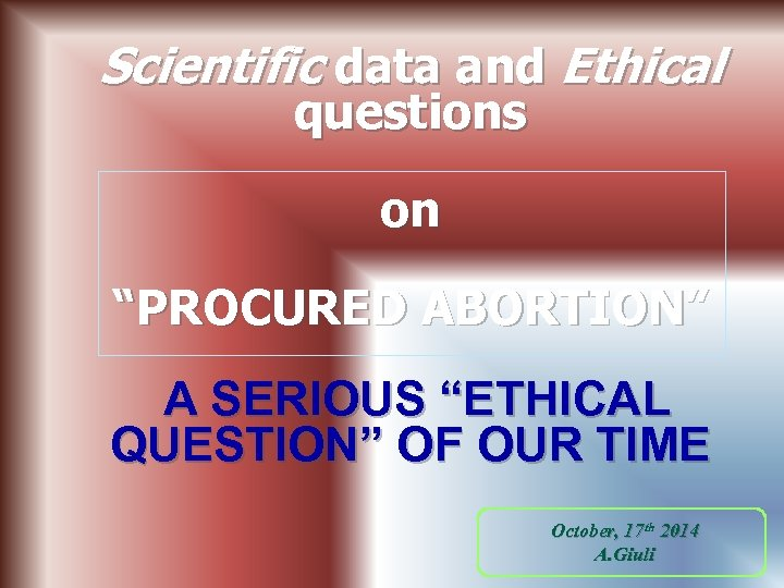 abortion abortion ethical unethical A study about so-called abortion reversal just got pulled because of ethical concerns buzzfeed news reported that a study about the scientifically unproven method to stop an abortion.