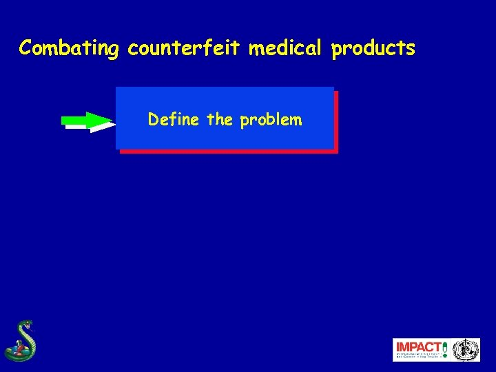 Combating counterfeit medical products Define the problem