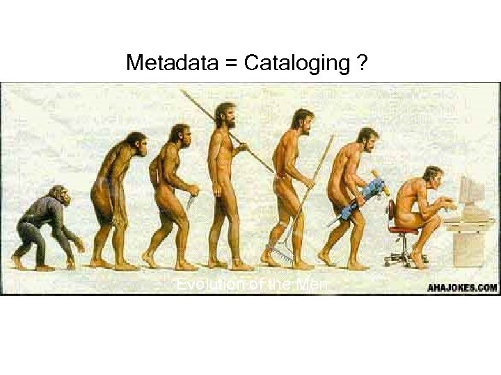 Metadata = Cataloging ? Evolution of the Men