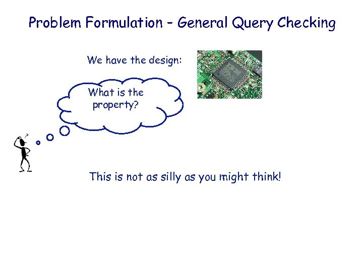 IBM HRL Problem Formulation – General Query Checking We have the design: What is