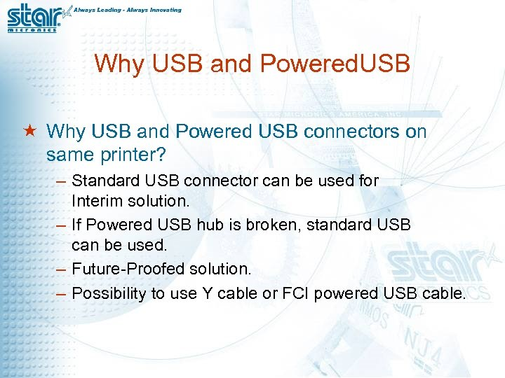 Why USB and Powered. USB « Why USB and Powered USB connectors on same