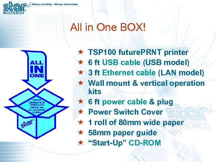 All in One BOX! « « « « « TSP 100 future. PRNT printer
