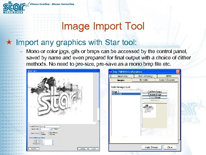 Image Import Tool « Import any graphics with Star tool: – Mono or color
