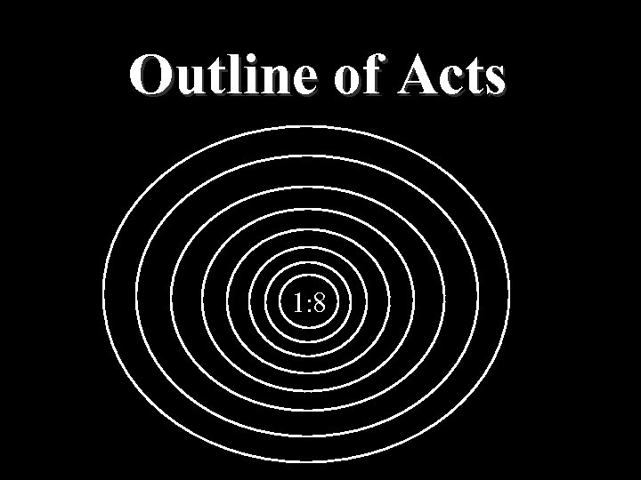 Outline of Acts 1: 8