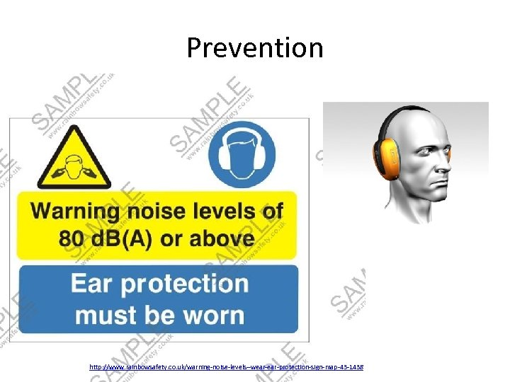 Prevention http: //www. rainbowsafety. co. uk/warning-noise-levels--wear-protection-sign-map-43 -1438