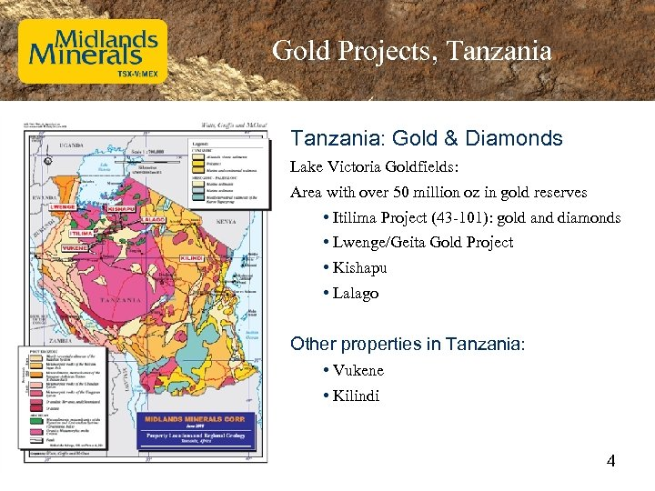 Gold Projects, Tanzania: Gold & Diamonds Lake Victoria Goldfields: Area with over 50 million