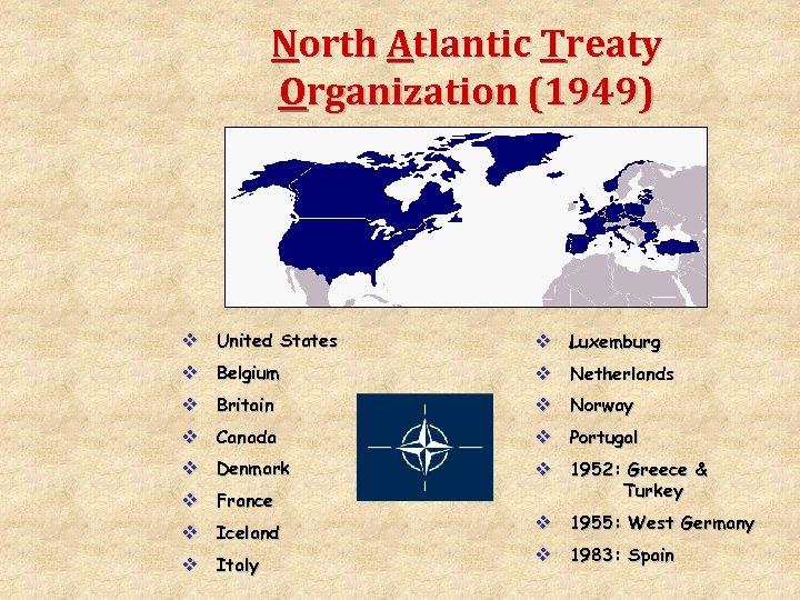 North Atlantic Treaty Organization (1949) v United States v Luxemburg v Belgium v Netherlands