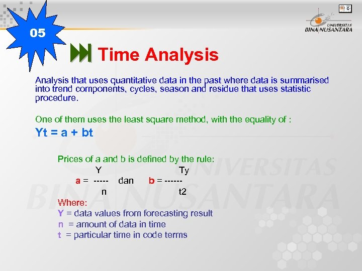 05 Time Analysis that uses quantitative data in the past where data is summarised