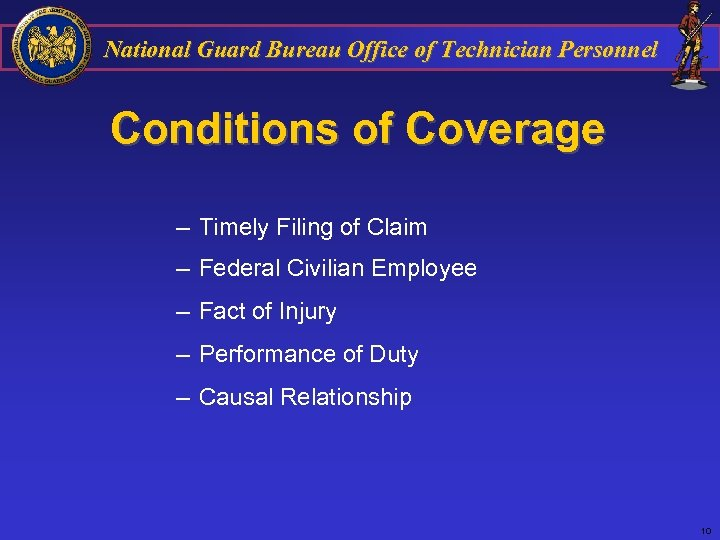 National Guard Bureau Office of Technician Personnel Conditions of Coverage – Timely Filing of