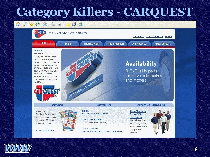 Category Killers - CARQUEST 18