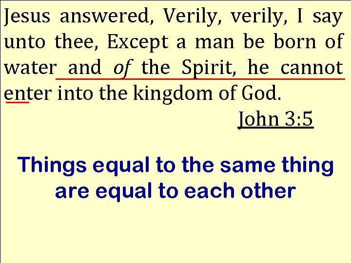 Jesus answered, Verily, verily, I say unto thee, Except a man be born of